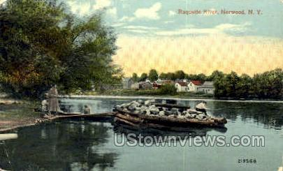 Raquette River - Norwood, New York NY Postcard