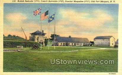 British Redoubt - Old Fort Niagara, New York NY Postcard