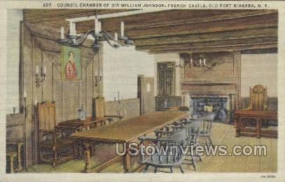 Council Chamber - Old Fort Niagara, New York NY Postcard