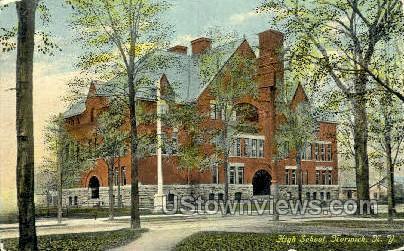 High School - Norwich, New York NY Postcard