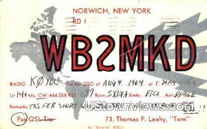Norwich, New York, NY Postcard