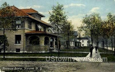 Residence Section - Norwich, New York NY Postcard