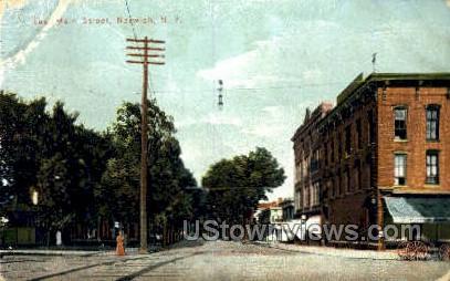 East Main Street - Norwich, New York NY Postcard