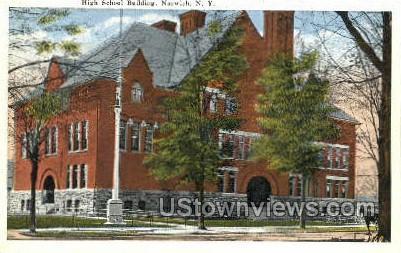 High School Bldg - Norwich, New York NY Postcard
