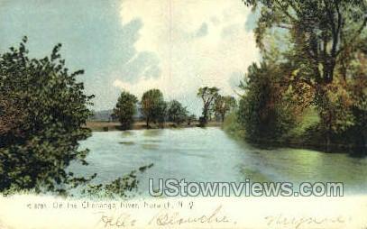 Chenango River - Norwich, New York NY Postcard