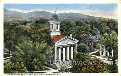 Court House - Norwich, New York NY Postcard