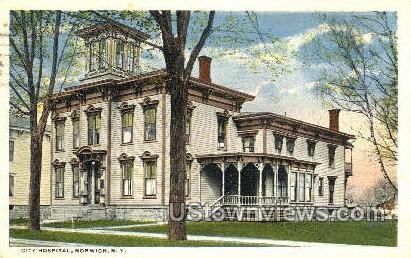 City Hospital - Norwich, New York NY Postcard