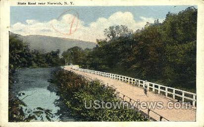 State Road - Norwich, New York NY Postcard