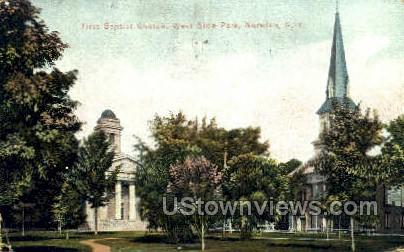 First Baptist Church - Norwich, New York NY Postcard