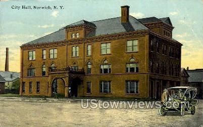 City Hall - Norwich, New York NY Postcard