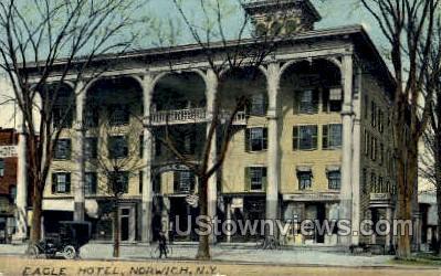Eagle Hotel - Norwich, New York NY Postcard