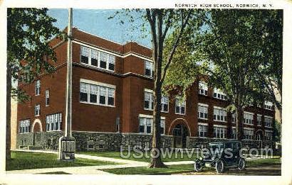 Norwich High School - New York NY Postcard