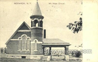 Mt. Hope Chapel - Norwich, New York NY Postcard