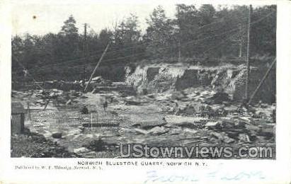Norwich Bluestone Quarry - New York NY Postcard