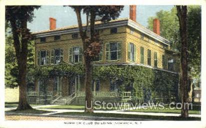 Norwich Club Bldg - New York NY Postcard