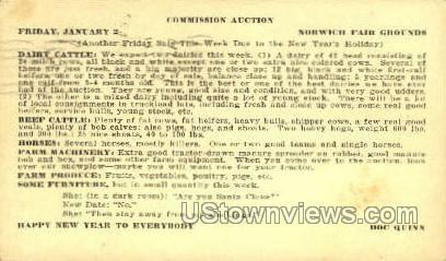 Commission Auction - Norwich, New York NY Postcard