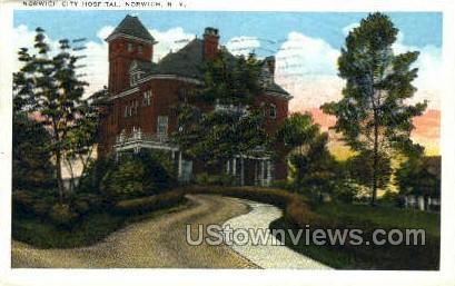 Norwich City Hospital - New York NY Postcard
