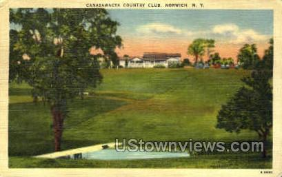 Canasawacta Country Club - Norwich, New York NY Postcard