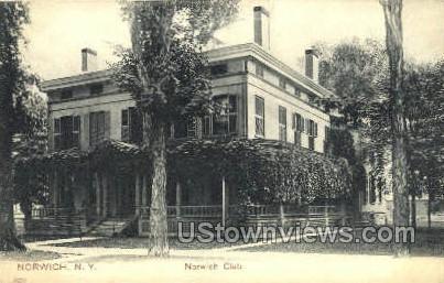Norwich Club - New York NY Postcard