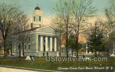 Chenango County Court House - Norwich, New York NY Postcard
