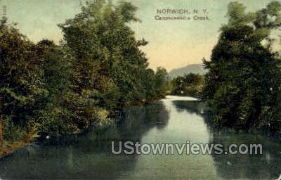 Canasawacta Creek - Norwich, New York NY Postcard