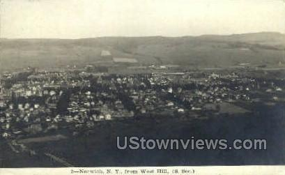 From West Hill - Norwich, New York NY Postcard