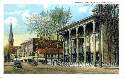 Broad Street - Norwich, New York NY Postcard