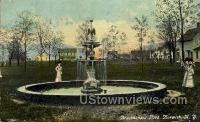 Bruckhausen Park - Norwich, New York NY Postcard