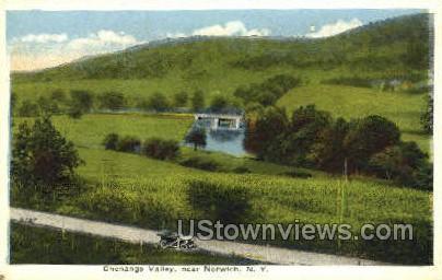 Chenango Valley - Norwich, New York NY Postcard