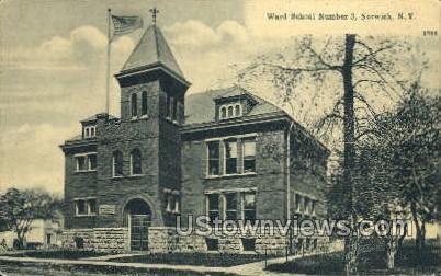Ward School Number 3 - Norwich, New York NY Postcard