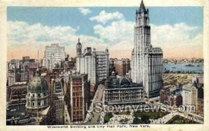 Woolworth Bldg - New York City Postcards, New York NY Postcard