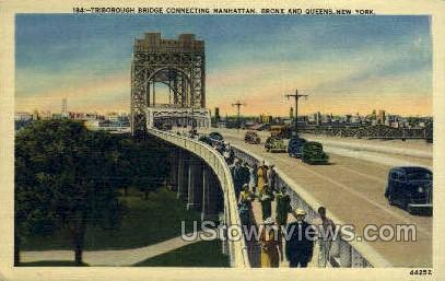 Triborough Bridge - New York City Postcards, New York NY Postcard