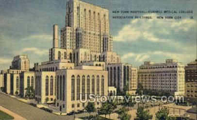New York Hospital - New York City Postcards Postcard