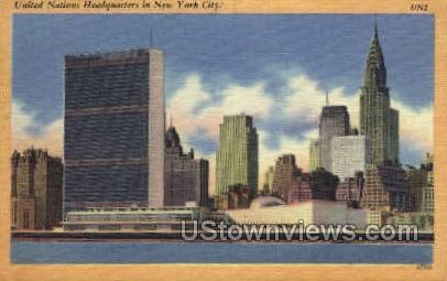 United Nations Headquarters - New York City Postcards, New York NY Postcard