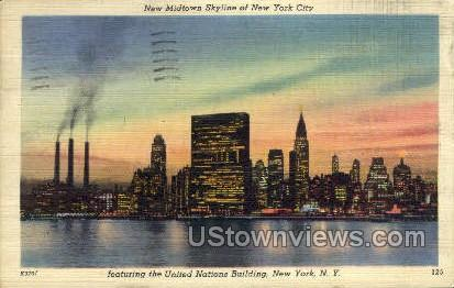 New Midtown Skyline - New York City Postcards, New York NY Postcard