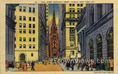 Wall Street - New York City Postcards, New York NY Postcard