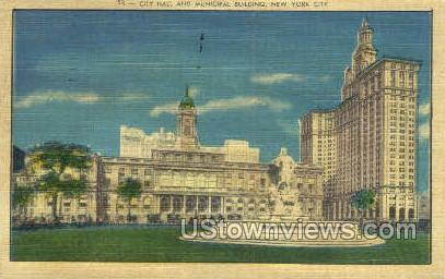 City Hall - New York City Postcards, New York NY Postcard