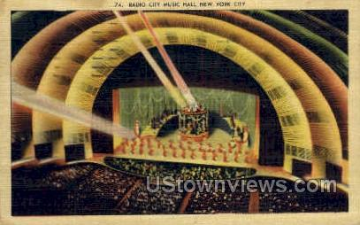 Radio City Music Hall - New York City Postcards, New York NY Postcard