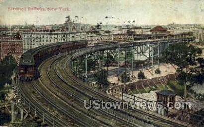 Elevated Railway - New York City Postcards, New York NY Postcard