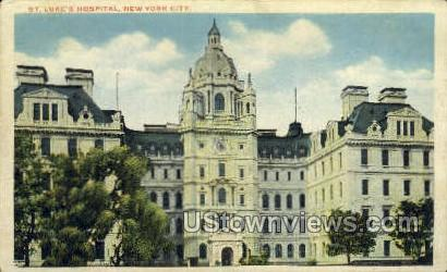 St Luke's Hospital - New York City Postcards, New York NY Postcard