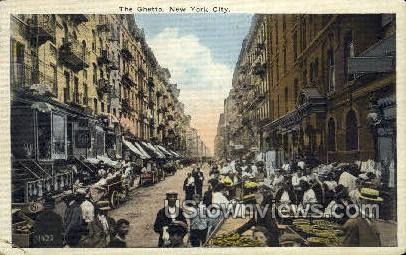 The Ghetto - New York City Postcards, New York NY Postcard