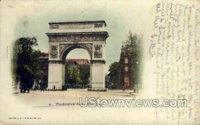 Washington Arch - New York City Postcards, New York NY Postcard
