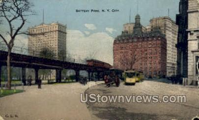 Battery Park - New York City Postcards, New York NY Postcard
