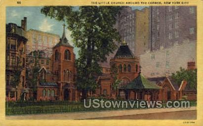 Little Church Around the Corner - New York City Postcards, New York NY Postcard