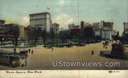 Union Square - New York City Postcards, New York NY Postcard