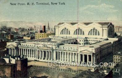 New Penn. R.R. Terminal - New York City Postcards, New York NY Postcard