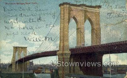 Brooklyn Bridge - New York City Postcards, New York NY Postcard