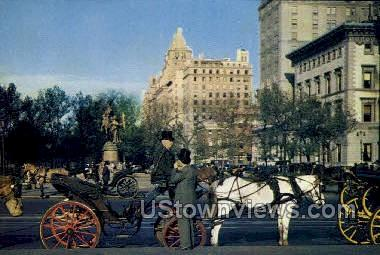Carriages - New York City Postcards, New York NY Postcard