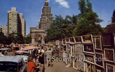 Greenwich Village - New York City Postcards, New York NY Postcard