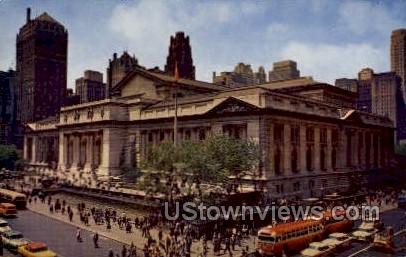 Public Library - New York City Postcards, New York NY Postcard